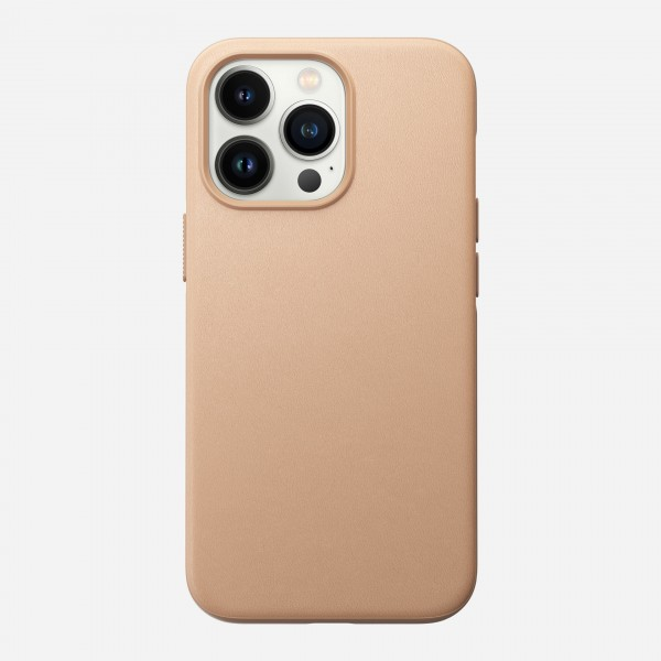 Nomad Modern Leather Case For iPhone 13 Pro - Natural, NM01066385