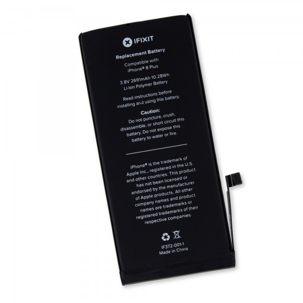 iFixit iPhone 8 Plus Replacement Battery, Part Only  - New, IF372-001-1