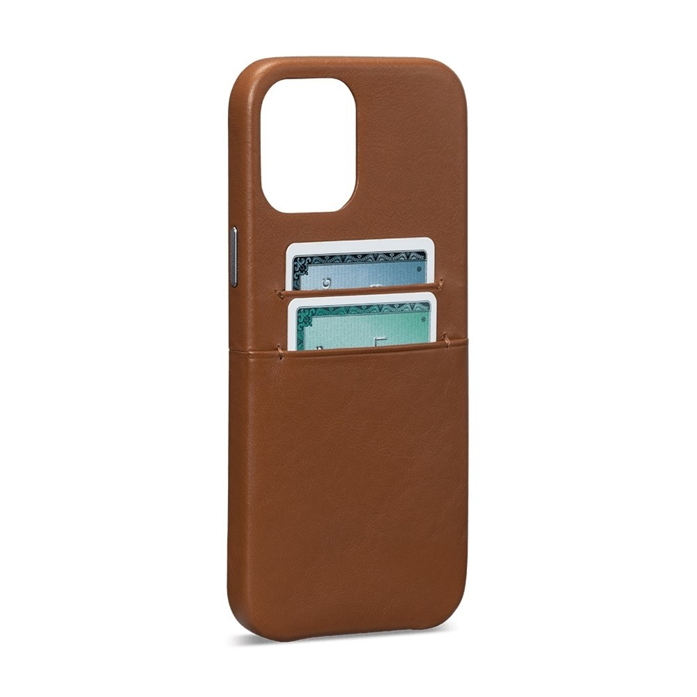 Sena - Snap On Wallet Case for iPhone 12 Mini - Brown, SFD48806NPUS-50