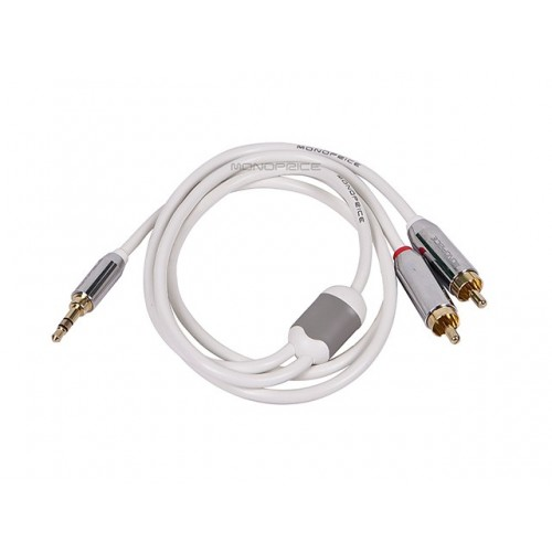 0.9m Designed for Mobile 3.5mm Stereo Male to RCA Stereo Male (Gold Plated) - White