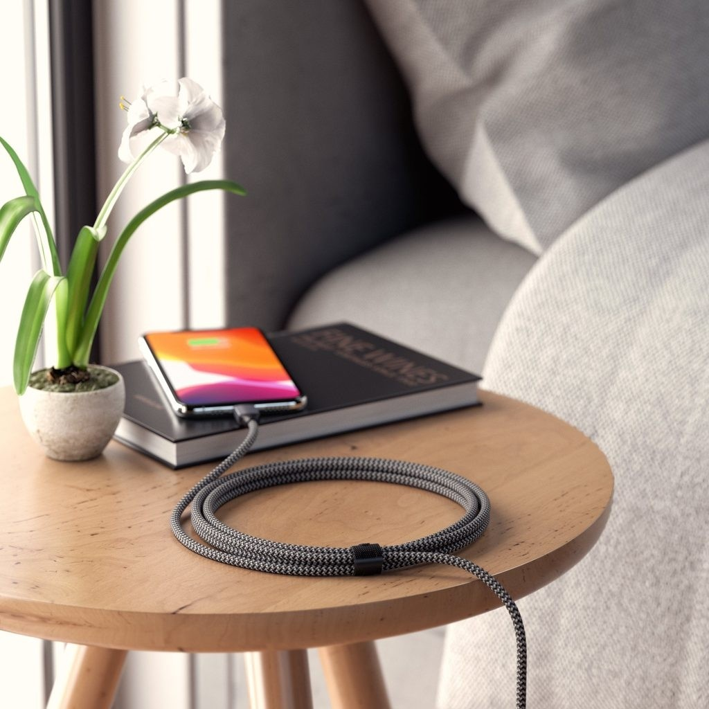 Satechi USB-C to Lightning Charging Cable 1.8 m - Space Grey, ST-TCL18M