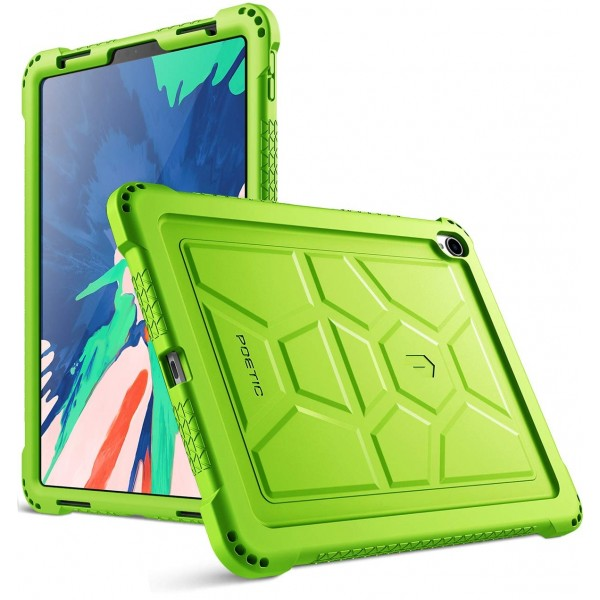 Poetic TurtleSkin Series Protective Silicone Case for Apple iPad Pro 11 Inch (2018) [Not Supported Apple Pencil Magnetic Attachment] - Green, B07GD5ZCBQ