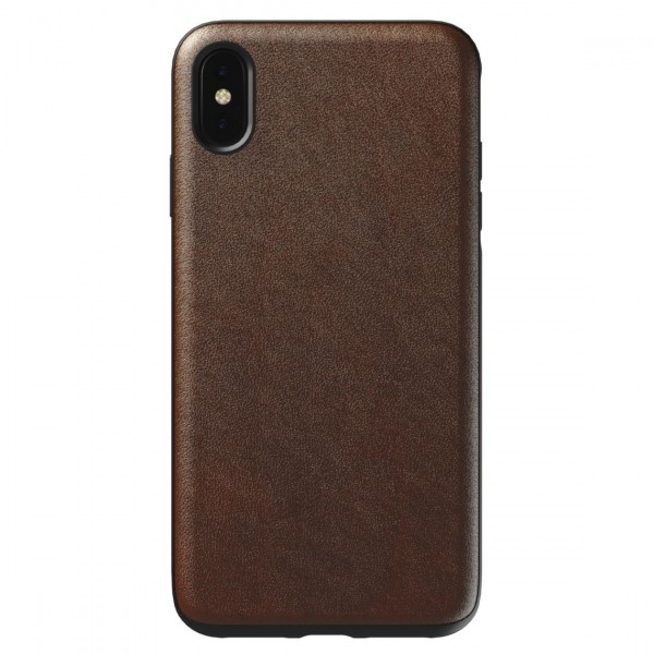 Nomad Horween Leather Rugged Case for iPhone XS Max - Rustic Brown, NM21TR0000