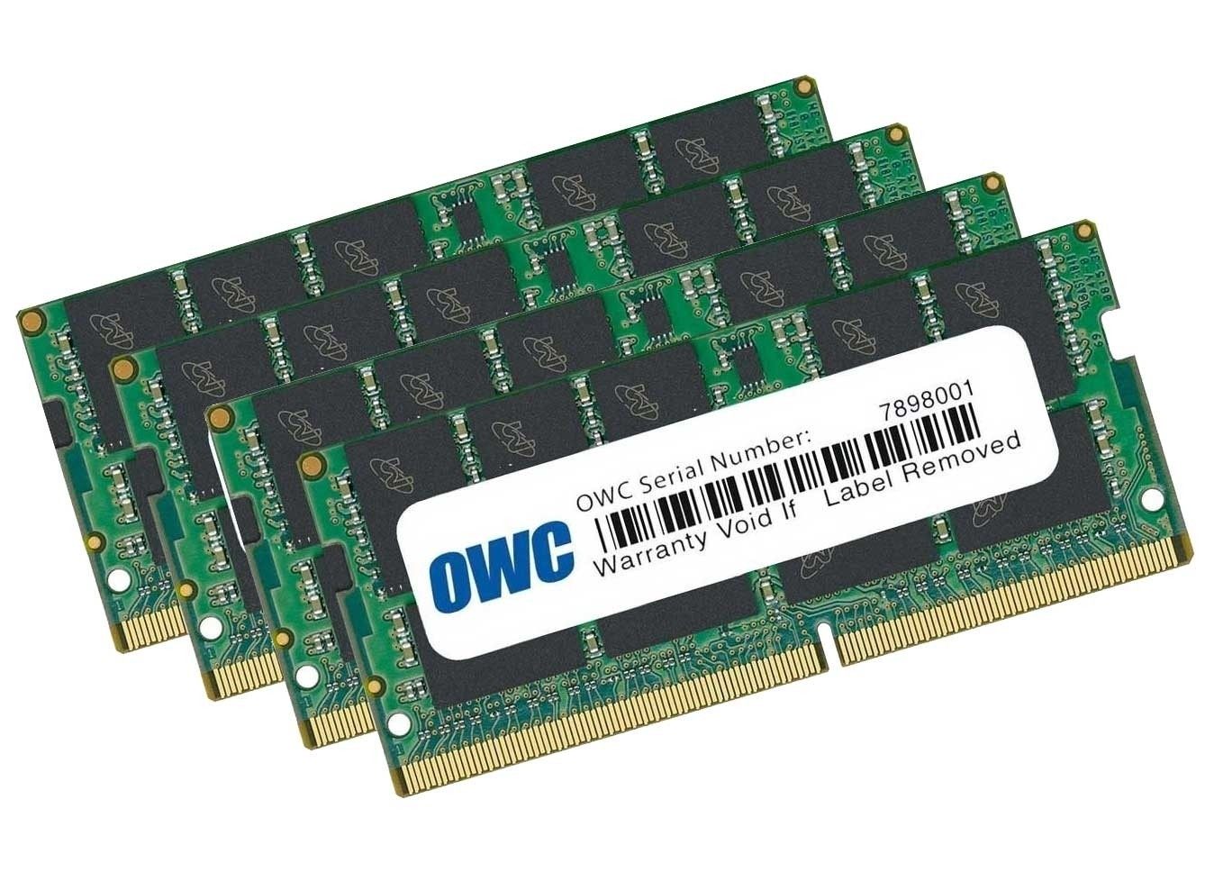 128.0GB (4 x 32GB) 2666MHz DDR4 PC4-21300 SO-DIMM 260 Pin OWC Memory Upgrade Kit, OWC2666DR4S128S