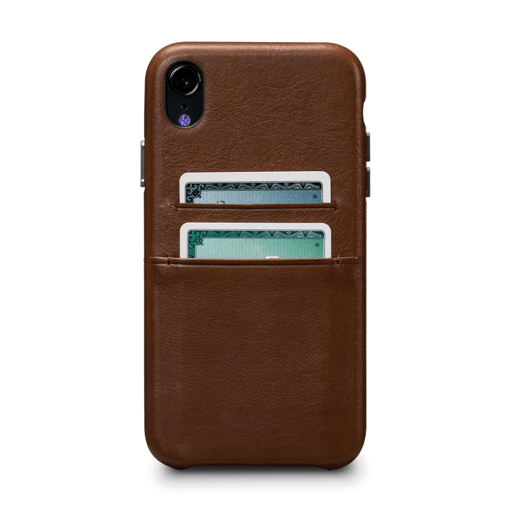 Sena Deen Snap-on Leather Wallet case for iPhone XR - Brown, SFD37706NPUS