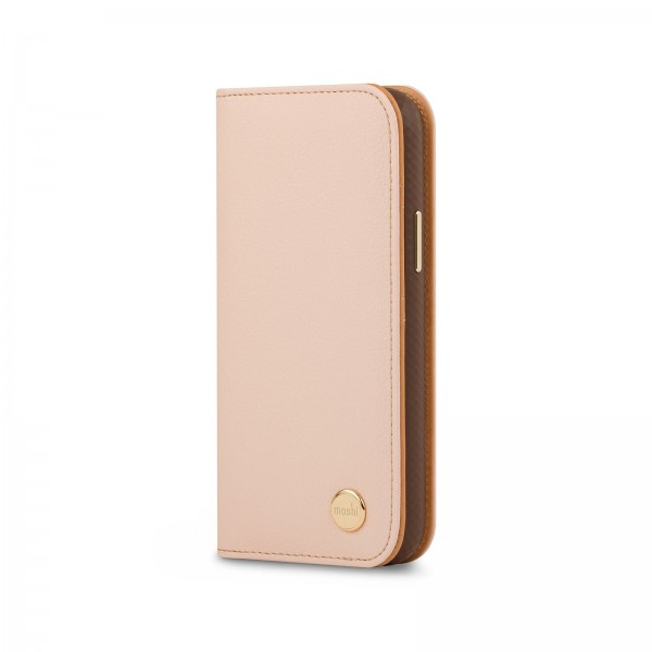 Moshi Overture Case with Detachable Magnetic Wallet for iPhone 12 Mini - Pink, 99MO091307