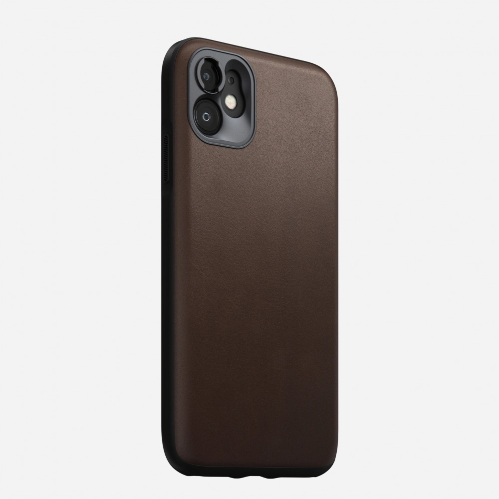 Nomad - Rugged Case with Moment Lens mount - iPhone 11 - Brown, NM21XR0R60