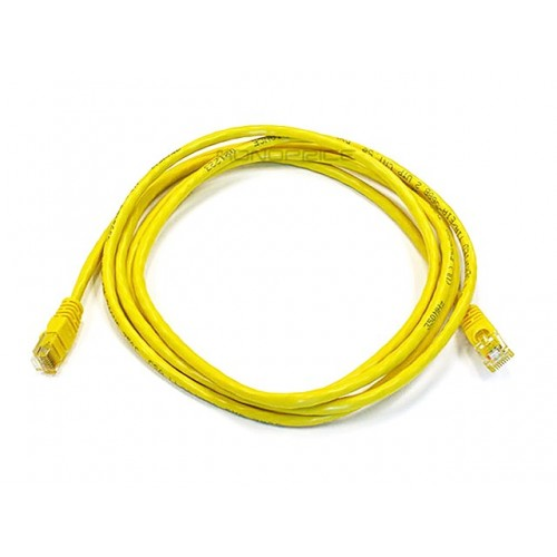 2.1m 24AWG Cat6 550MHz UTP Ethernet Bare Copper Network Cable - Yellow