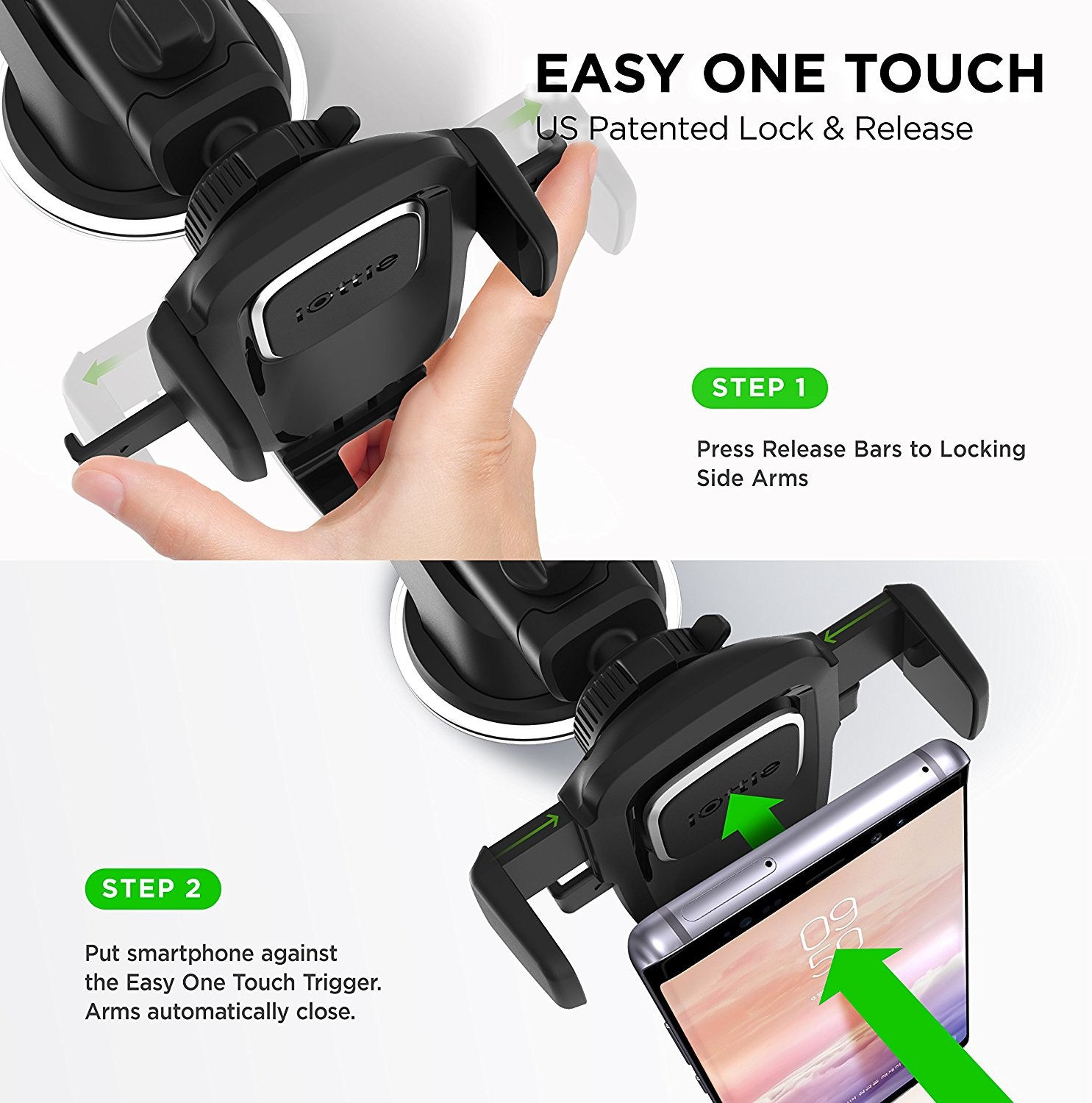 iOttie Easy One Touch 4 Car & Desk Mount Phone Holder - Compatible with all iPhone Models, HLCRIO125