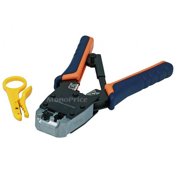Dual-Modular Plug Crimps, Strips, and Cuts Tool with Ratchet [HT-500R], TOOL-3351