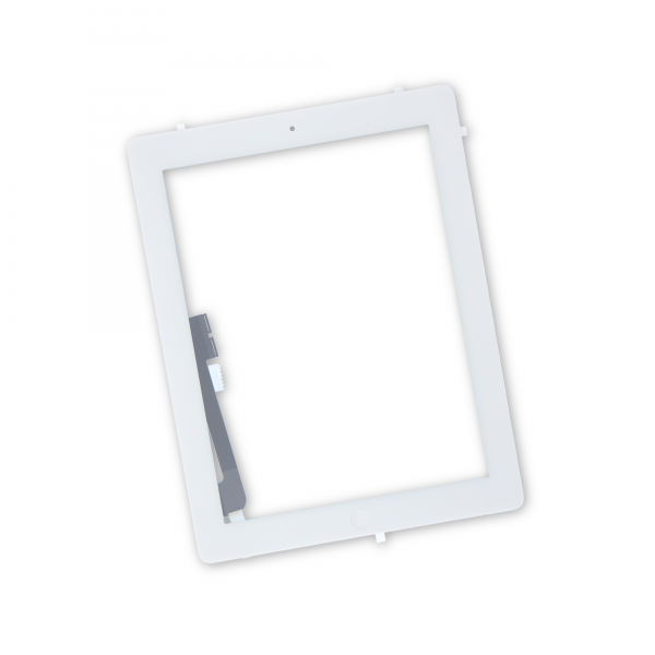 iPad 4 Front Glass/Digitizer Touch Panel Full Assembly, New, Part Only - White, IF116-024-4