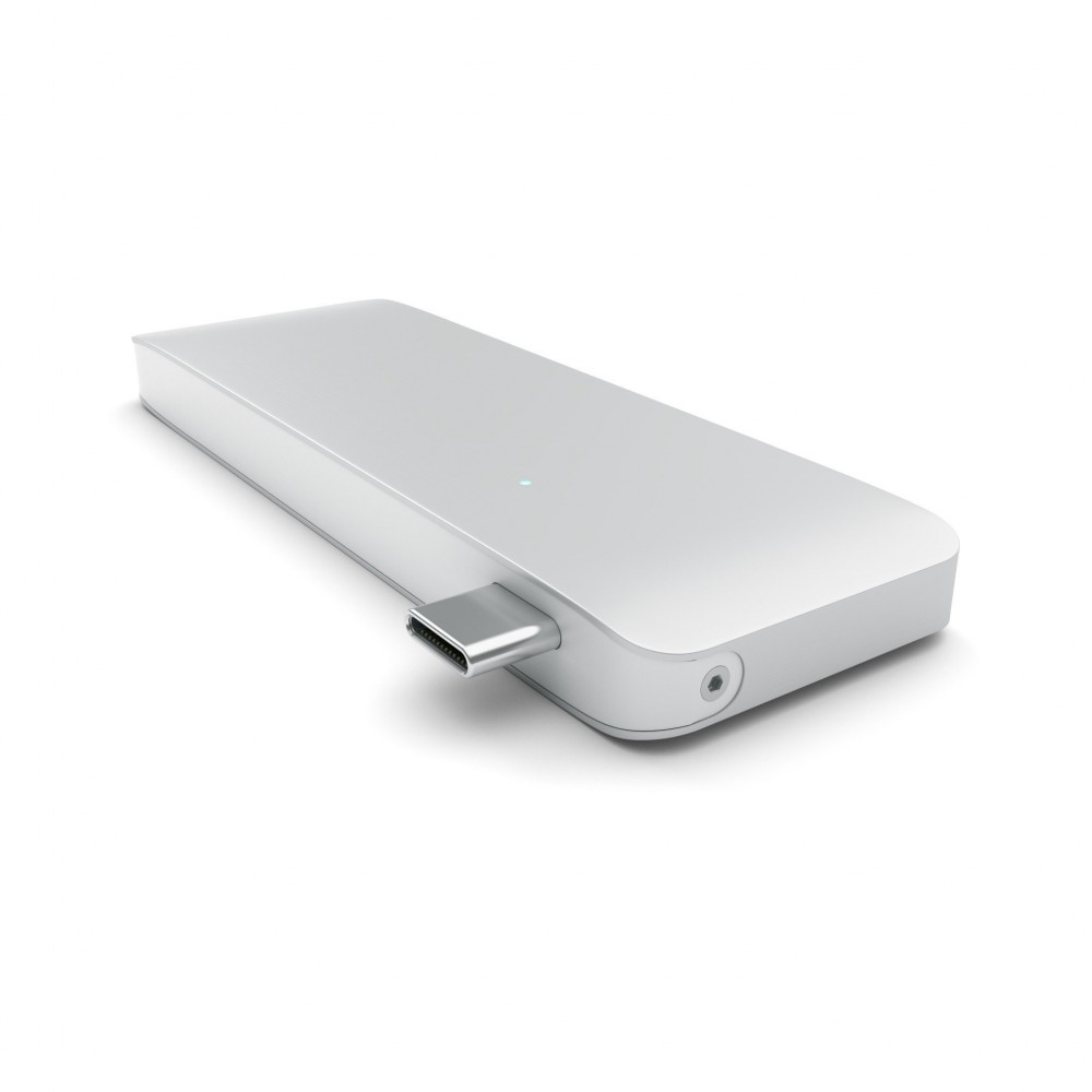 Satechi® USB-C Type-C USB 3.0 3 in 1 Combo USB-C Hub - Silver, ST-TCUPS