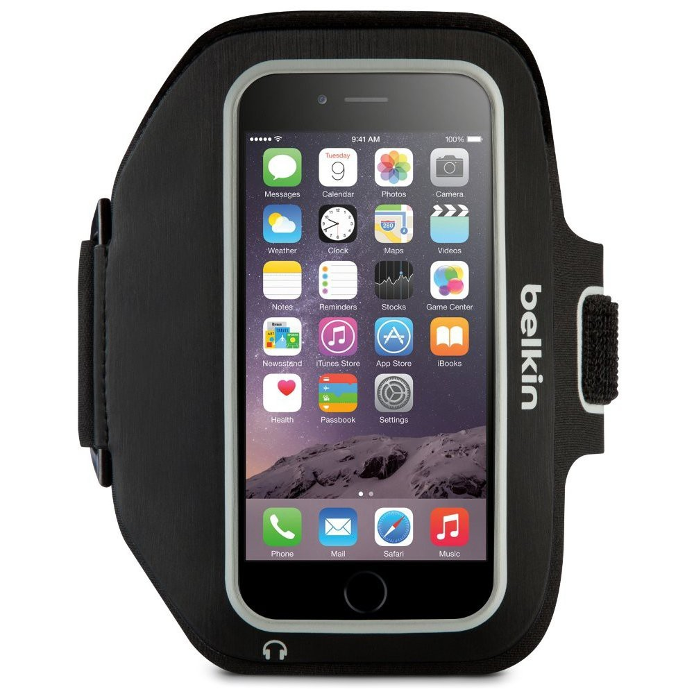 Belkin Sport-Fit Plus Armband for iPhone 6/6S, BKIN-IPH6-ARM-BK