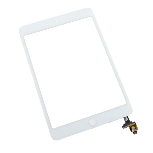iPad mini 1/2 Front Glass/Digitizer Touch Panel Full Assembly, Part Only, New - White