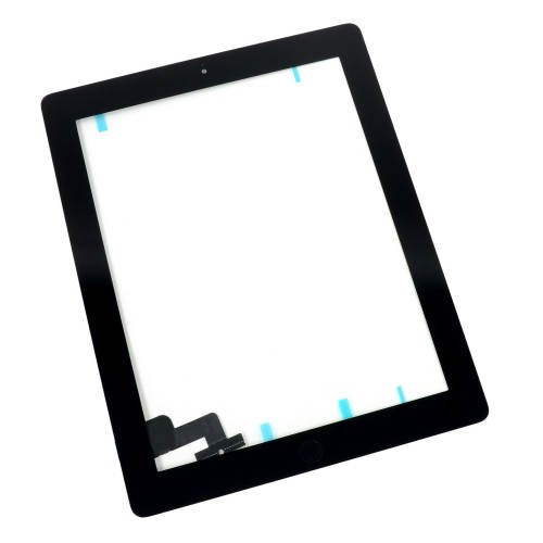 iPad 2 Front Glass/Digitizer Touch Panel Full Assembly, Part Only, New - Black