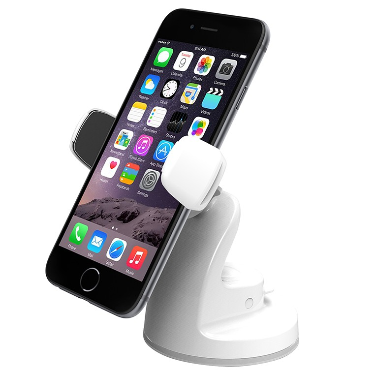 iOttie Easy View 2 Universal Car Mount Holder for iPhone 6 Plus/6/5s/5c/4S, and Smartphone - White, IO-HLCRIO115-WH