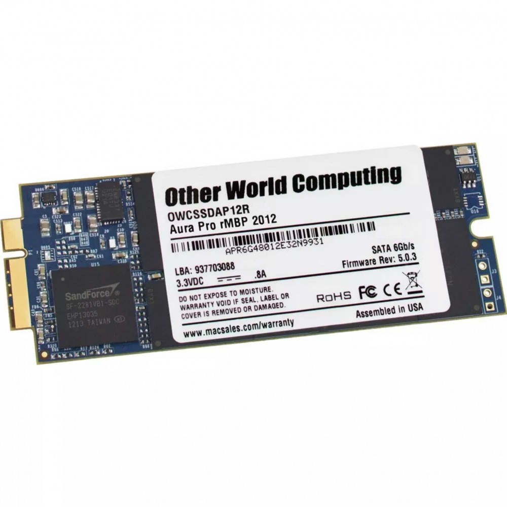 2.0TB OWC Aura Pro 6G Solid-State Drive SSD for 2012-13 MacBook Pro with Retina display, OWCS3DAP12RT02