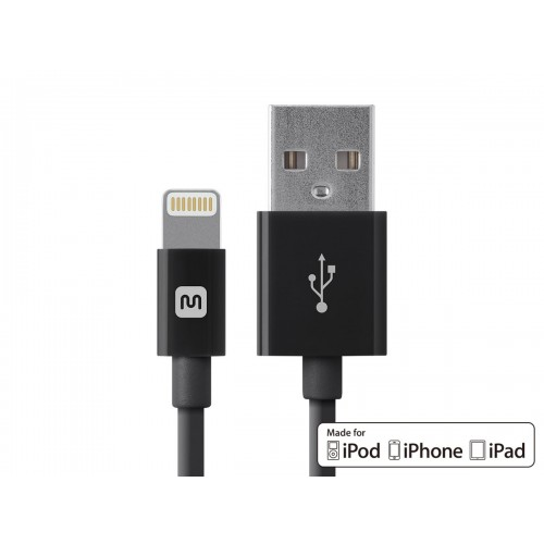 Select Series Apple MFi Certified Lightning to USB Charge & Sync Cable 3ft Black