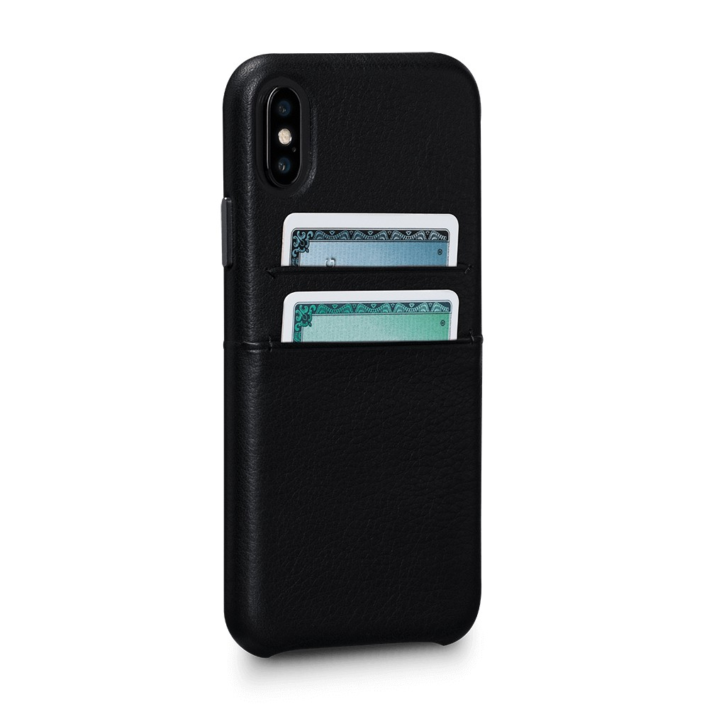 Sena Bence Snap-on Leather Wallet case for iPhone X/Xs - Black, SFD320GBUS-50