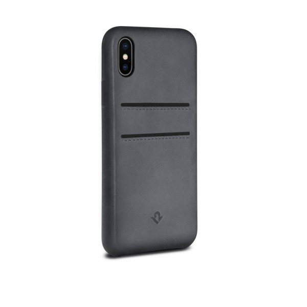 Twelve South RelaxedLeather with pockets for iPhone X - Earl Grey, 12-1739
