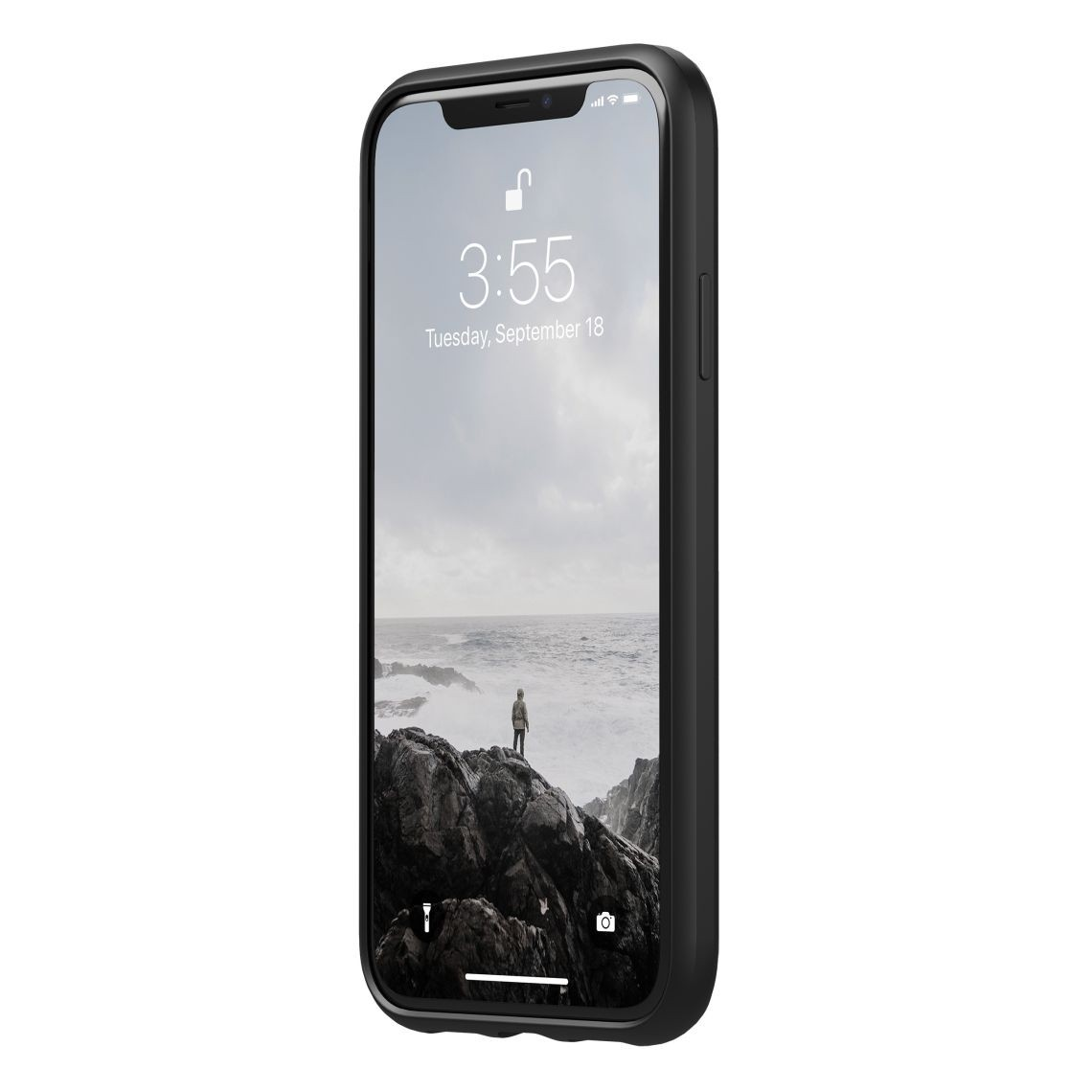 Nomad Horween Leather Rugged Case for iPhone XR - Black, NM21Q10000