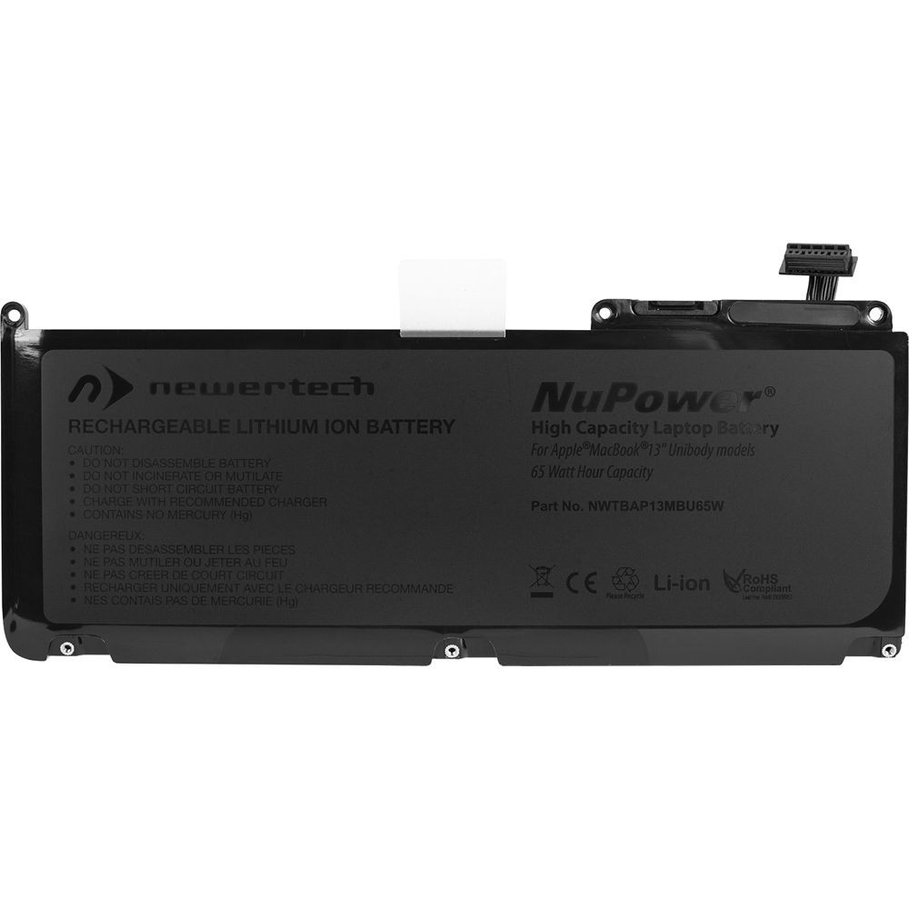 "NewerTech NuPower 65 Watt-Hour Battery For MacBook 13"" Unibody Late 2009-Mid 2010 Polycarbonate models, NWTBAP13MBU65W"