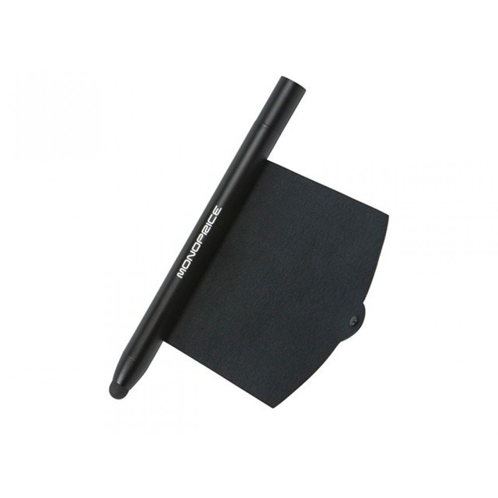 """5.25"""" Stylus with Retractable Screen Cleaner for all Tablets, and SmartPhones - Black, STYLUS-10280"""