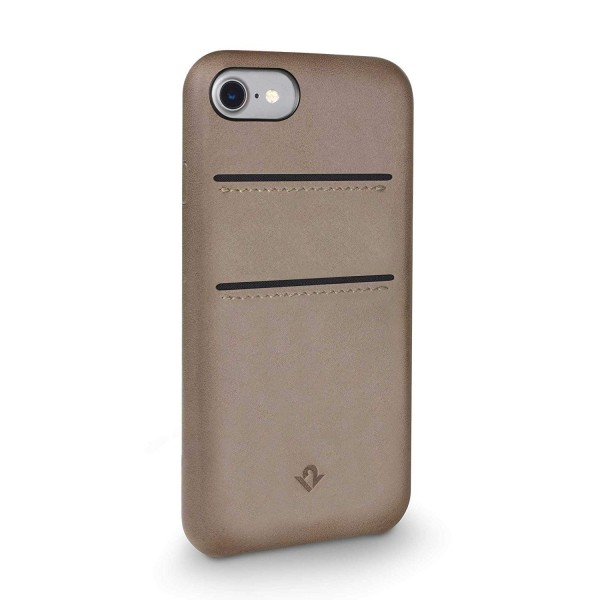 Twelve South RelaxedLeather with pockets for iPhone 7/8 - Warm Taupe,  12-1646