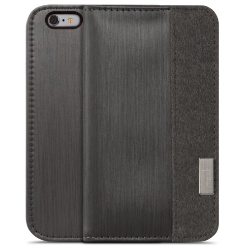 Moshi Overture Wallet Case for iPhone 6 Plus/6S Plus - Steel Black