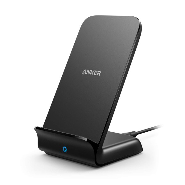 Anker PowerWave Fast Wireless Charger Stand, Qi-Certified, 7.5W Compatible iPhone Xs Max/XR/XS/X/8/8 Plus and All Qi-Enabled Phones - No AC Adapter, AK-A2521011