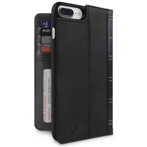 Twelve South BookBook for iPhone 8 Plus/7 Plus/6S Plus - Black, 12-1661