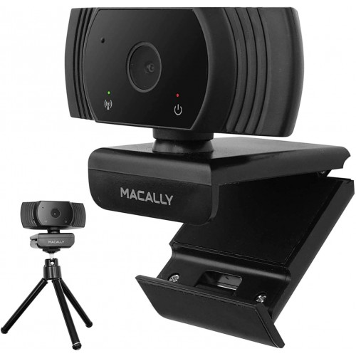 Macally High Definition 1080P Video Webcam for Home, School, and Business (MZOOMCAM) - Black