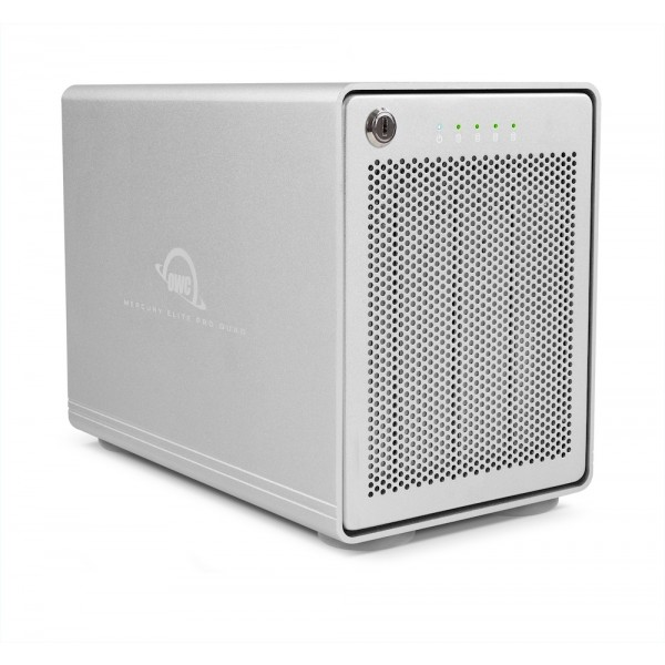 OWC Mercury Elite Pro Quad USB 3.1 Gen 2 RAID 5 Four-Bay External Storage Enclosure, OWCMEQCTSRT00