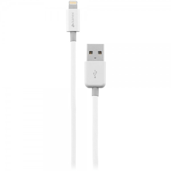 Kanex Charge and Sync Cable with Lightning Connector 1.2 m - White, K8PIN4F