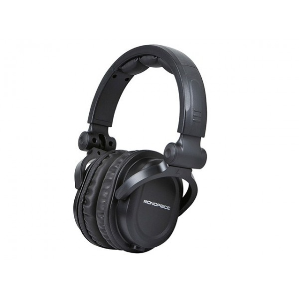 Monoprice Premium Hi-Fi DJ Style Over-the-Ear Pro Headphone, HEAD-8323