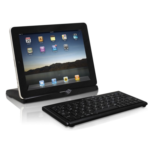 Macally Portable Bluetooth Keyboard and Stand for iPad 2nd-4th Generation - Black, BTKEYMINI