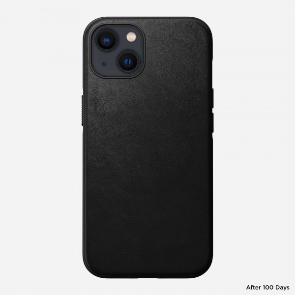 Nomad Modern Leather Case For iPhone 13 - Black , NM01061885