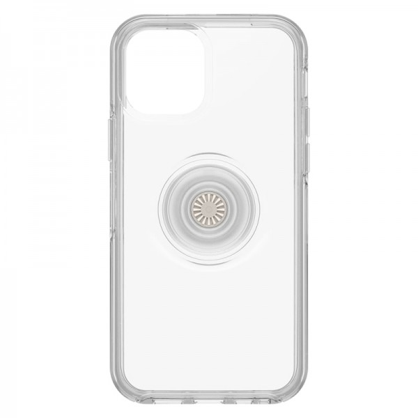 OtterBox Otter+Pop Symmetry Case For iPhone 12/12 Pro - Clear, 77-65771