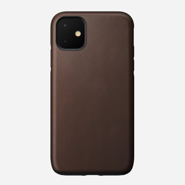 Nomad - Leather Case - Rugged - iPhone 11 - Rustic Brown, NM21XR0R00