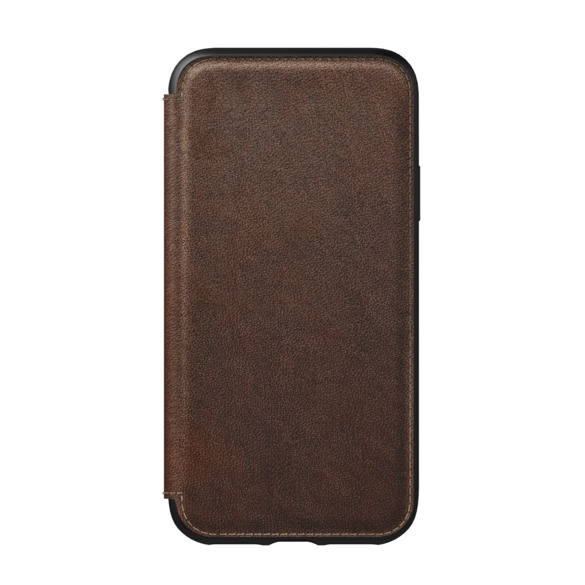 Nomad Horween Leather Rugged Folio for iPhone XS / X - Rustic Brown, NM21FR0H00