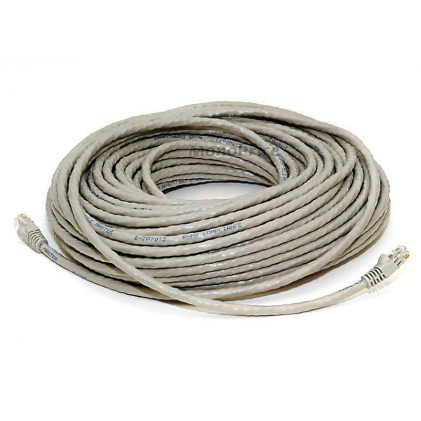 30m 24AWG Cat6 500MHz Crossover Ethernet Bare Copper Network Cable - Gray, ETH-2389