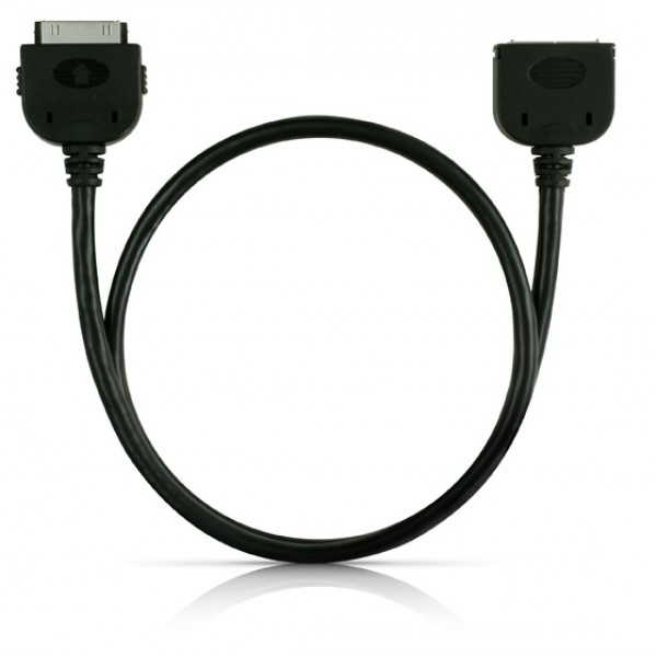 CableJive DockExtender 30-pin Extender -  Black - For iPhones, iPods and iPad - 60cm