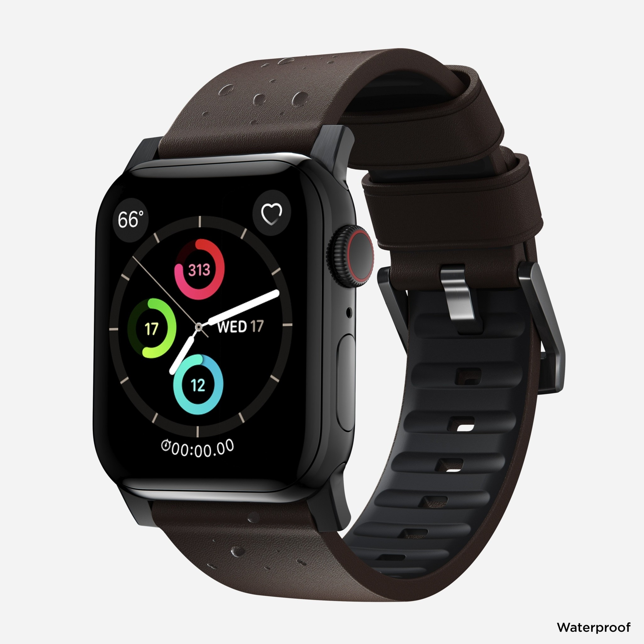 Nomad - Active Strap Pro - Apple Watch 44/42mm - Brown - Black Hardware, NM1A4MBNW0