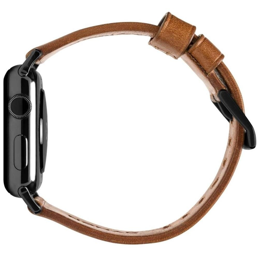Nomad - Horween Leather Strap for Apple Watch 38/40mm - Modern Build, Black Hardware, NM1A3RBM00