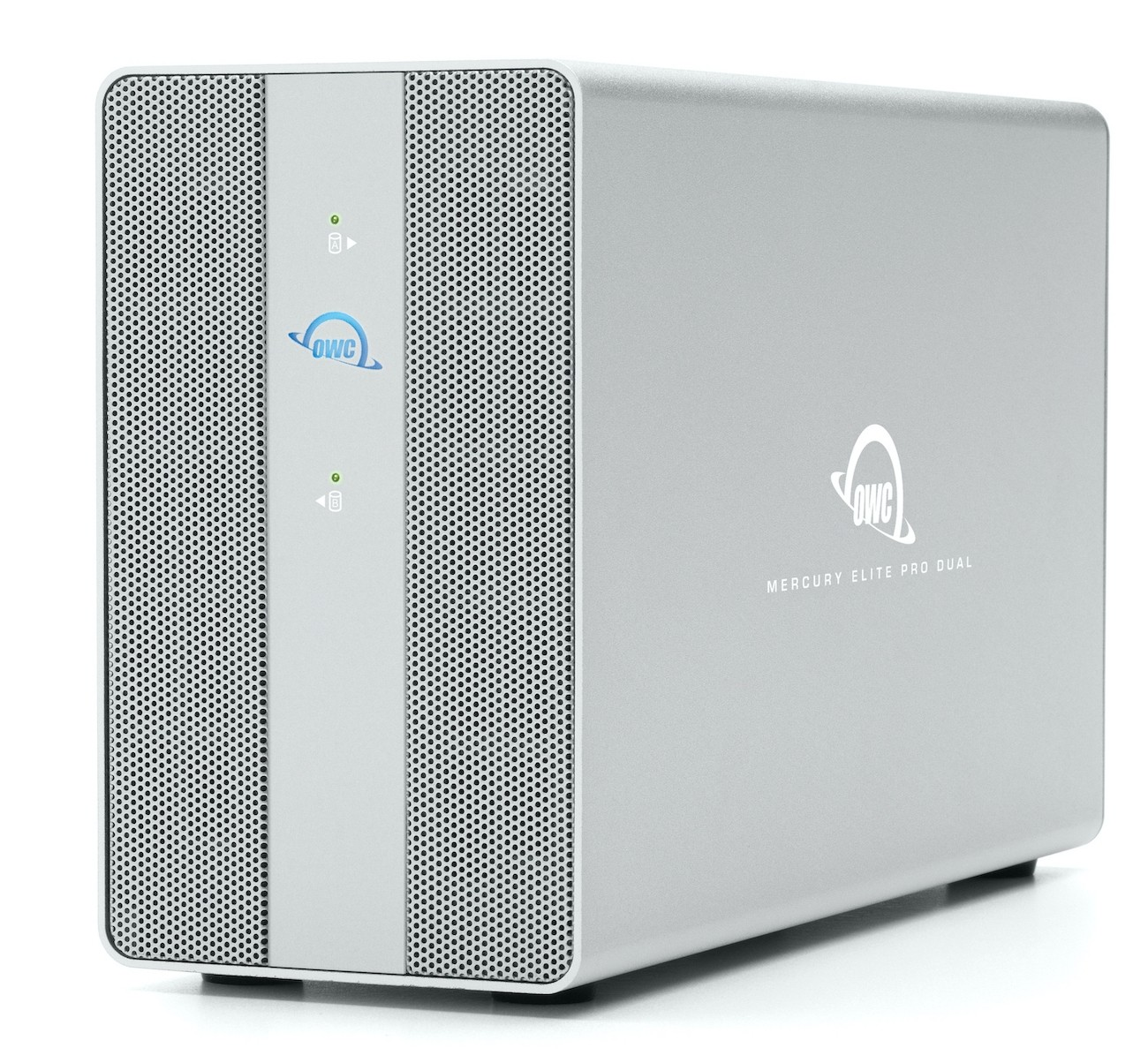 8TB OWC Mercury Elite Pro Dual SSD RAID Storage Solution with USB (10Gb/s) + 3-Port Hub, OWCMEDCH7S08