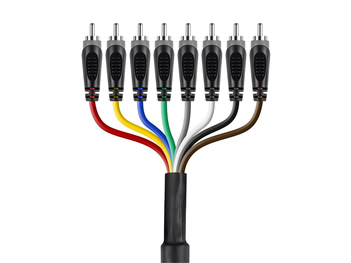 6 Meter (20ft) 8-Channel 1/4inch TS Male to RCA Male Snake Cable, 601294