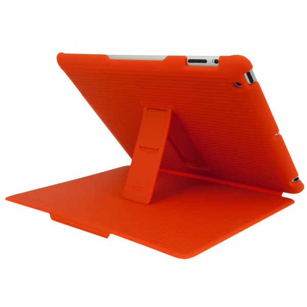 STM Grip Hard Folio-Style Case, Stand and Intelligent Screen Cover for iPad 2/3/4th Gen - Tangerine Orange, DIS-GRIPIP3TANG