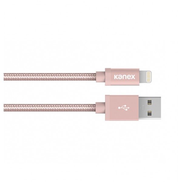 Kanex Premium DuraBraid (TM) Lightning ChargeSync Cable,  2M - Rose Gold, K157-1028-RG6F