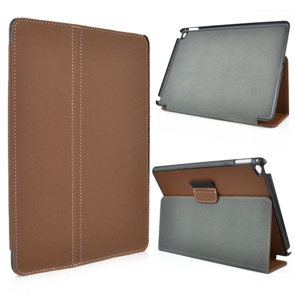 Leather Flip Case for iPad Air 2 - Brown, IPD6-FLIP-65963