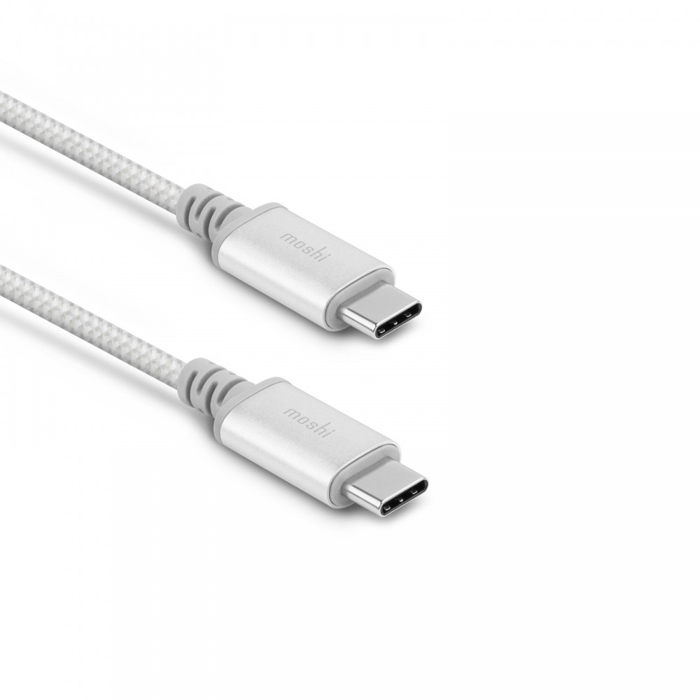 Moshi Integra USB-C to USB-C Charge Cable (1m) - Silver, 99MO084244
